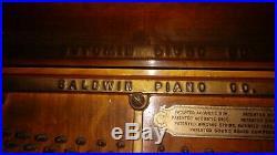 Vintage Baldwin Upright Piano Cincinnati 1890s