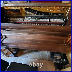 Vintage Brown Emerson Upright Piano with Pianocorder (Auto plays)