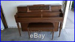 Vintage Gulbransen Upright Piano with Matching Bench