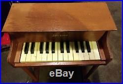 Vintage Jaymar Toy Upright Piano 25 Keys Kid Children Keyboard Instrument Toy