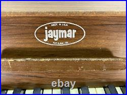 Vintage Jaymar Upright Miniature Piano With Chair 25 key Children Music