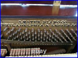 Vintage Lester small Upright Piano 66 Keys apartment size Bench Philadelphia