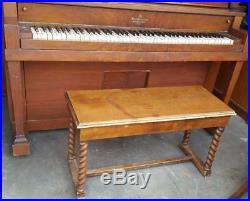 Vintage Solo Concerto Upright Converted Player Piano M. C. Bay Company GDC
