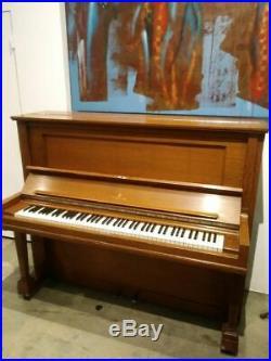 Vintage Steinway & Sons K-52 Upright Piano 52 Satin Oak
