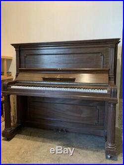 Vintage Steinway & Sons Tall Upright Piano 54 Satin Mahogany