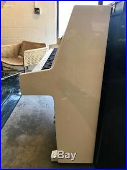 Weber W-41 Console Upright Piano 43 Polished Ivory