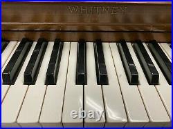 Whitney Spinet Upright Piano 36 Satin Walnut