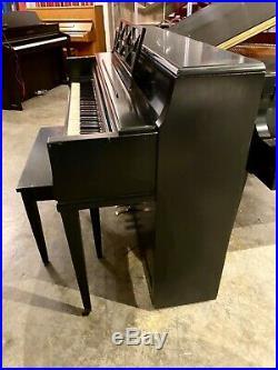 Wurlitzer Console Piano 42 Ebony Satin Circa 1960