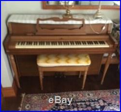 Wurlitzer piano upright very good condition includes bench