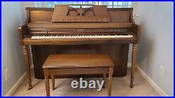 Wurlitzer upright piano with bench