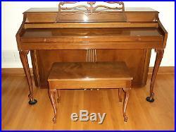 Wurlitzter Piano 3 Pedals & 88 Keys Queen Anne style Cherry finish USA INDIANA