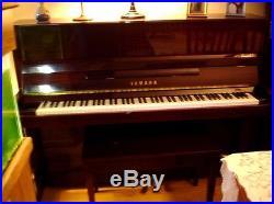 YAMAHA MAHOGANY UPRIGHT PIANO WithBENCH (T116)