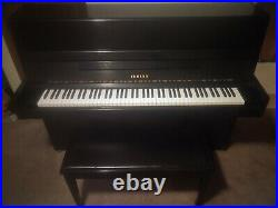Yamaha B1 piano, upright black with bench
