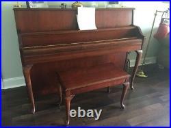 Yamaha M500 Upright Piano 44 Console Piano Cherry Finish