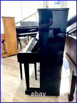 Yamaha MX100A Upright Piano with Player System 50 Polished Ebony