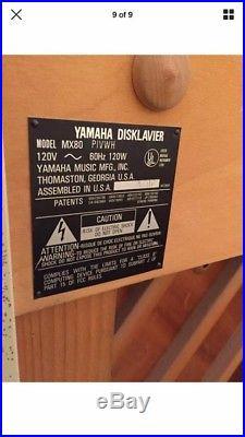 Yamaha MX80 Studio Disklavier Player Piano with recording strip & Bluetooth Midi