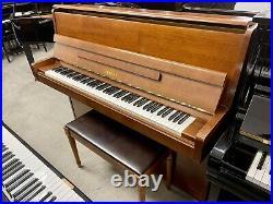 Yamaha P1 Upright Piano 46 Satin Walnut