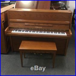 Yamaha P2 F Light Oak 45 Upright Piano and Bench Mfg 1990 in USA Bench Inc