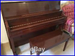 Yamaha Piano P22 Upright 2005 Professional Collection American Walnut