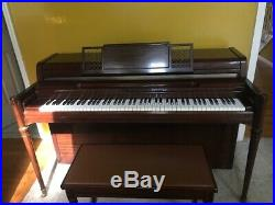 Yamaha Spinet Piano in a beautiful Mahogany finish 1963 Very Good Condition