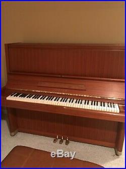 Yamaha Teak Upright Piano U7 Nice