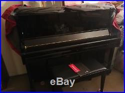 Yamaha U1 48 Professional Collection Acoustic Upright Piano Polished Ebony