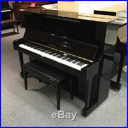 Yamaha U1 (Pre-Owned) Polish Ebony 48 Upright Piano & Bench Mfg 1994 in Japan