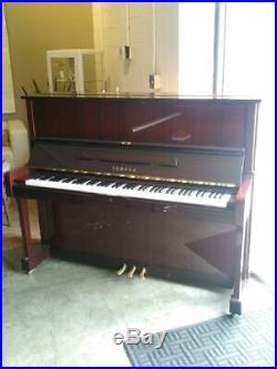 Yamaha U1 Upright Piano 48 Polished Mahogany