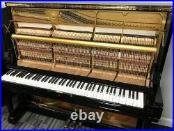 Yamaha U3 52 Upright Piano Picarzo Pianos Polished Ebony Model VIDEO