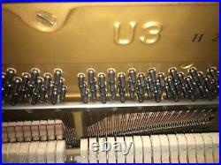Yamaha U3 Upright Piano Black Polish