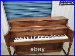 Yamaha Upright Piano and Padded Bench