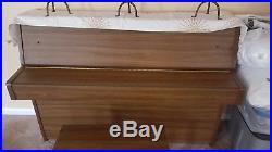 Yamaha Upright Piano with matching bench, walnut finish local pickup