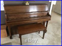 Yamaha upright piano cared for with regular tuning and humidity control device