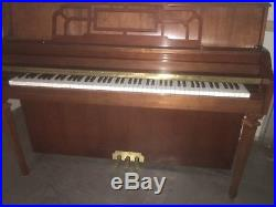 Yamaha wooden upright piano brown excellent condition
