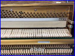 Young Chang Model E-101 85-note Upright Piano Walnut Wood with Chair
