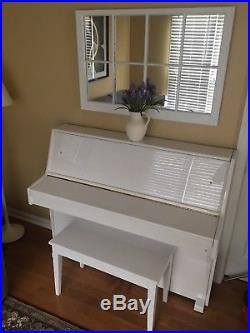 Young Chang Upright Piano 101-A Rare White Excellent Condition