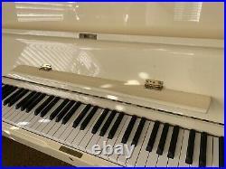 Young Chang Upright Piano Model U-107, Almond / Ivory Gloss